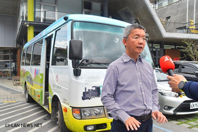 三星鄉免費公車加強消毒司機全程配戴口罩
