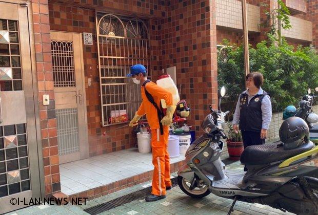 新冠肺炎羅東鎮107處公寓大廈全面進行消毒工作
