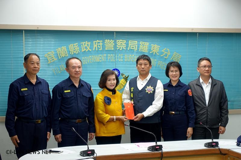 台新銀遭隔離假消息 羅東分局迅速查獲 林姿妙頒發破案獎金
