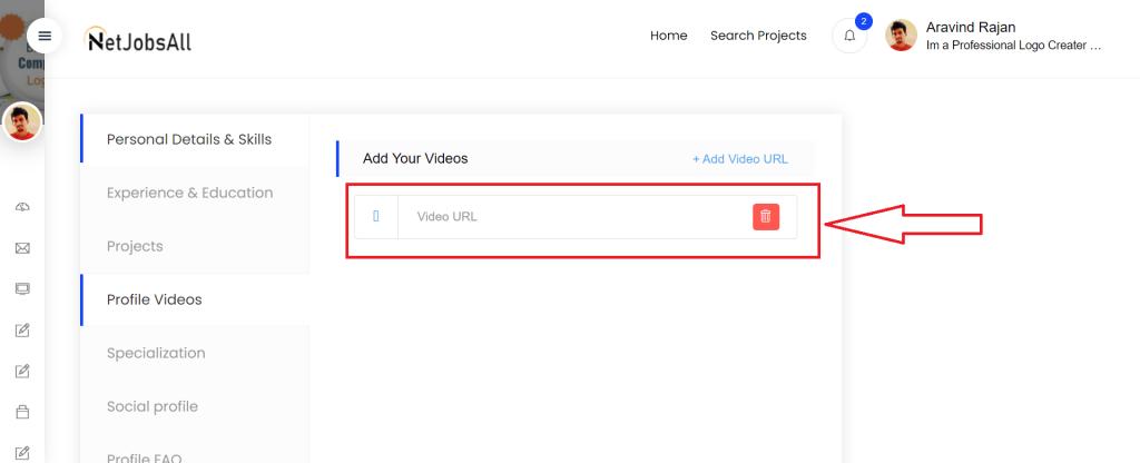 Profile Video Step -3