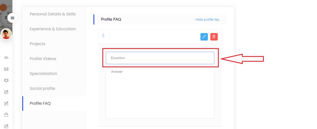 Profile FAQ step -3