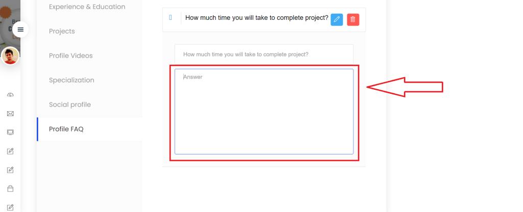 Profile FAQ step -4