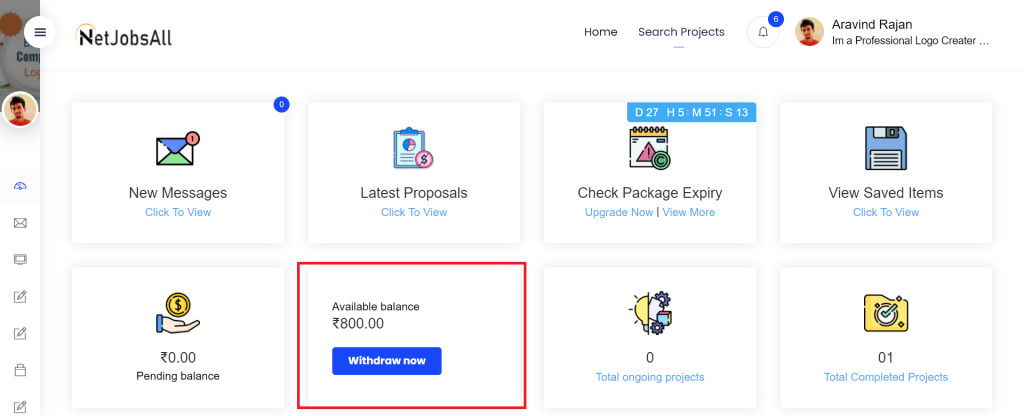 Approved Projects And Receive Payment Step-3