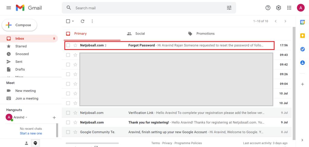 Reset Password Step -6