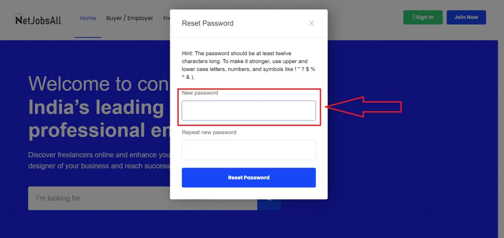 Reset Password Step -9
