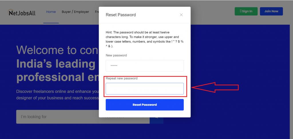 Reset Password Step -10
