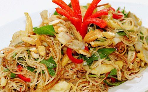 Ăn chay ngày rằm với món gỏi bắp chuối