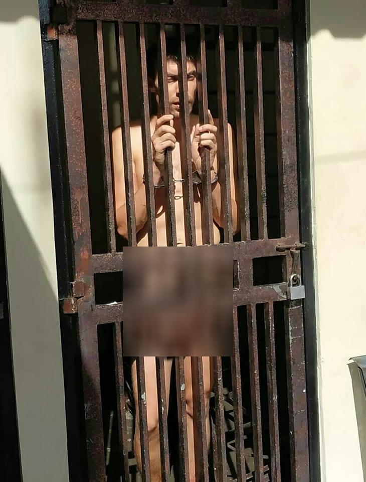 Bule Jerman lucuti pakaian hingga tanpa busana di tahanan Satpol PP Kota Denpasar Bali.(Istimewa)