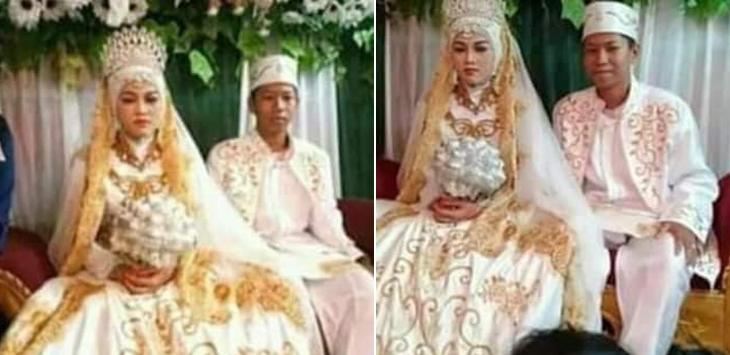 Pernikahan anak SD dan SMP di Paringin Kalimantan Selatan. (Istimewa)