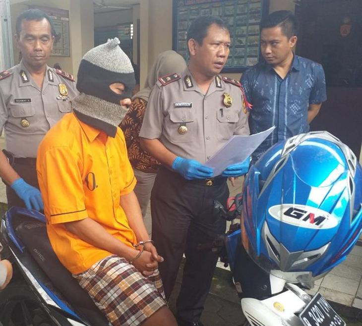 Sutrisno Saputra curi motor tetangga buat kado pacar. (Radar Lampung)