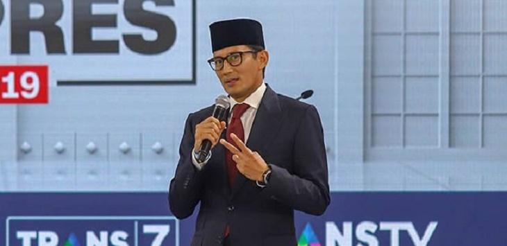 Calon Wakil Presiden nomor urut 02 Sandiaga Uno (Issak Ramdhani/JawaPos.com)