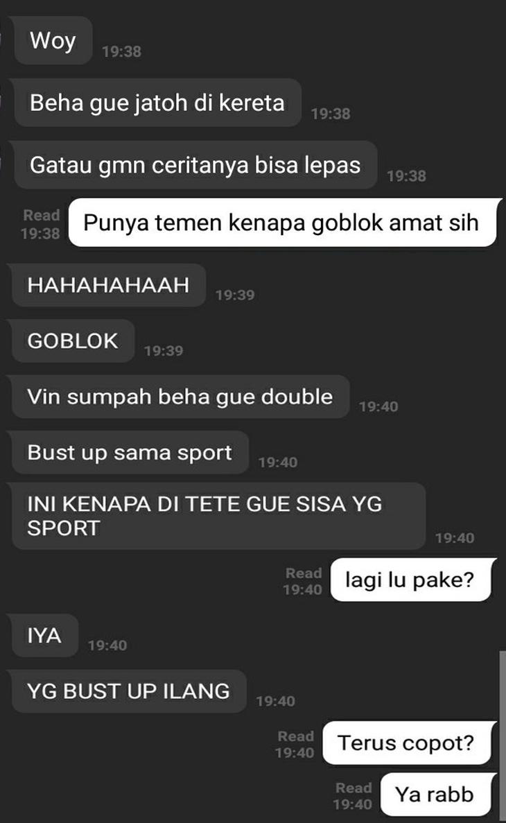 Cewek kehilangan bra di KRL Manggarai Bogor