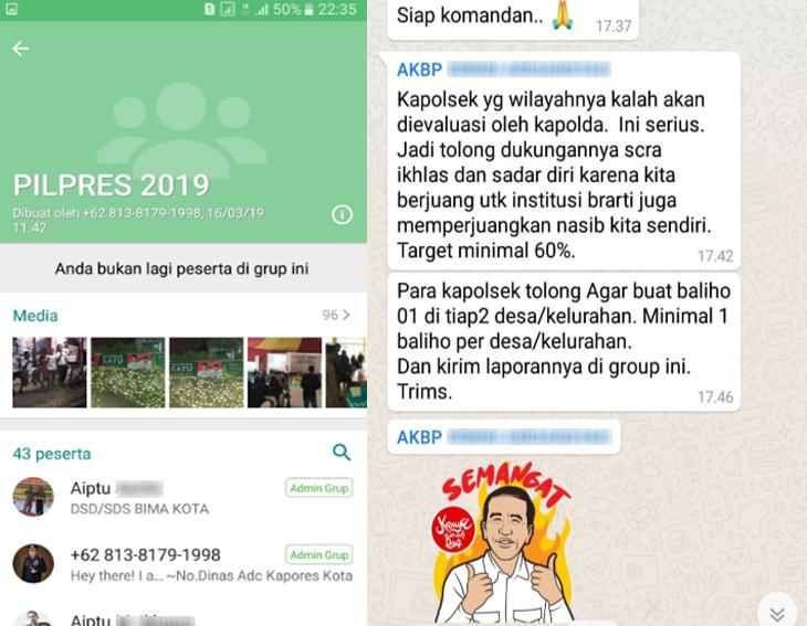Chat Grup WA Pilpres 2019 1
