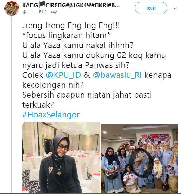 Ketua Panwaslu Kuala Lumpur Pendukung Prabowo-Sandi?