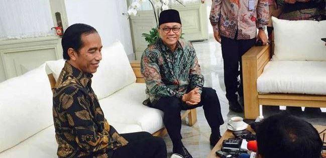 Ketua Umum PAN Zulkifli Hasan temui Presiden Jokowi di Istana Negara, Rabu (24/4/2019)