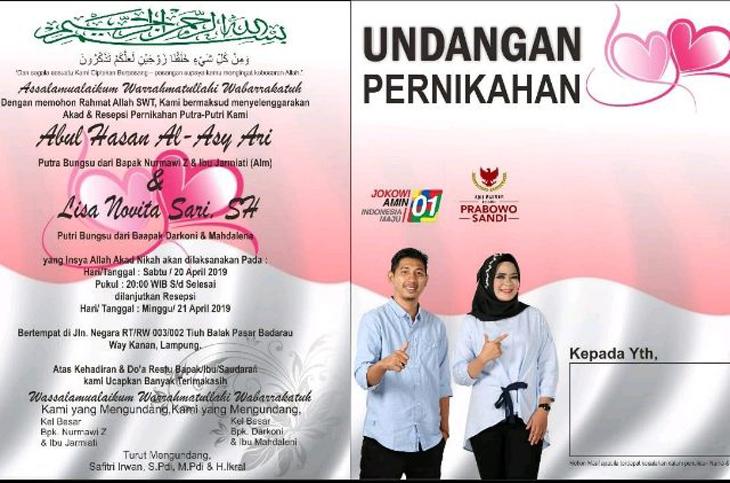 Pendukung Jokowi dan Prabowo menikah 1