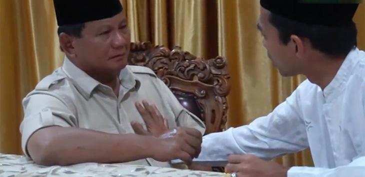 Pertemuan Prabowo dan UAS