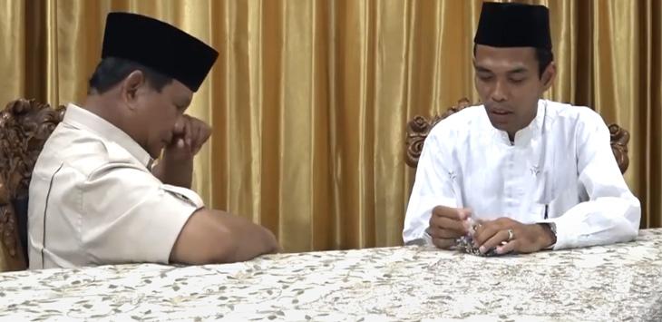 Prabowo menangis mendengarkan nasihat UAS