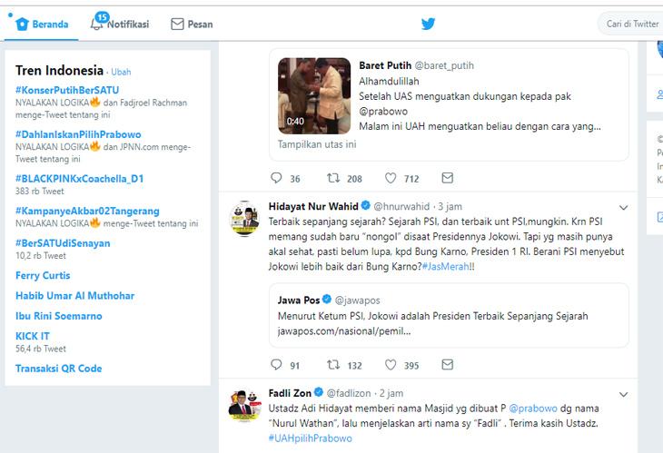 Tagar Dahlan Iskan pilih Prabowo trending topic