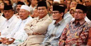 Prabowo-Sandi dan sejumlah elite di Hotel Sahod Jakarta, hasil pemilu 2019
