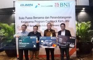 Pertamina Marketing Operation Region III bekerja sama dengan PT Bank Negara Indonesia (Persero) Tbk atau BNI