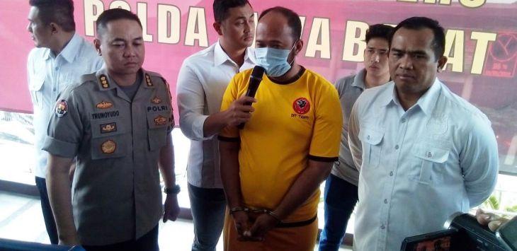 Warga Majalengka, pelaku penyebar hoax Brimob tentara China ditangkap Polda Jawa Barat. Foto: Arief/PojokSatu.id