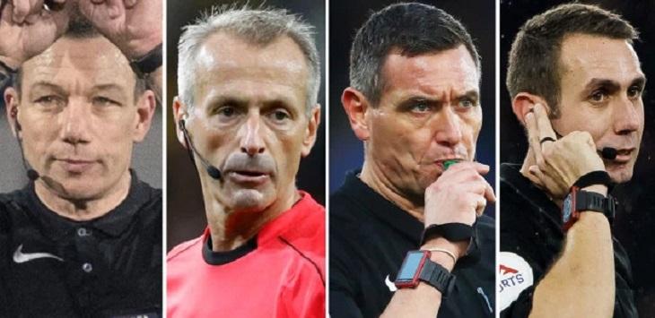 Wasit Liga Inggris: Kevin Friend, Martin Atkinson, Andre Marriner dan David Coote. ft/thesun