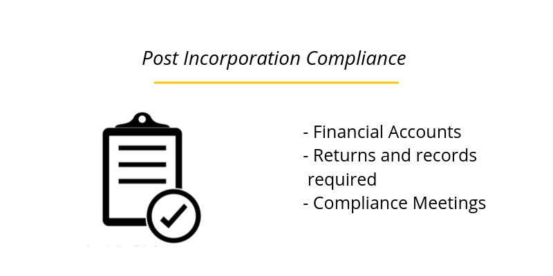 Post Incorporation Compliance (The Companies Act)