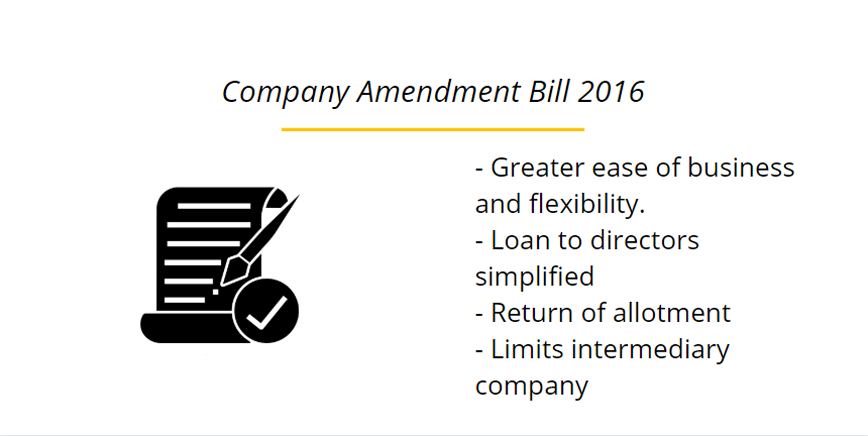 Company Amendment Bill 2016