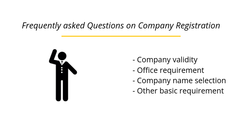 Frequently asked Questions on Company Registration