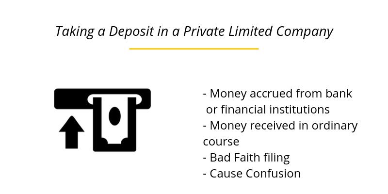 Taking a Deposit in a Private Limited Company