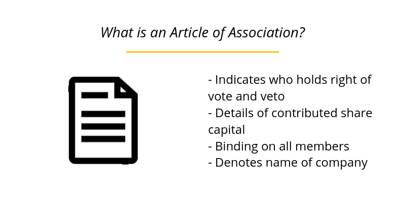What is an Article of Association?