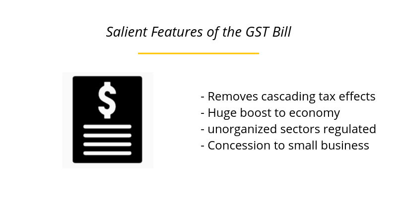 Salient Features of the GST Bill