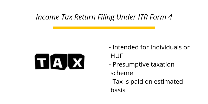 Income Tax Return Filing Under ITR Form 4