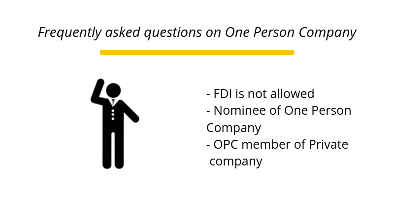 Frequently asked questions on One Person Company