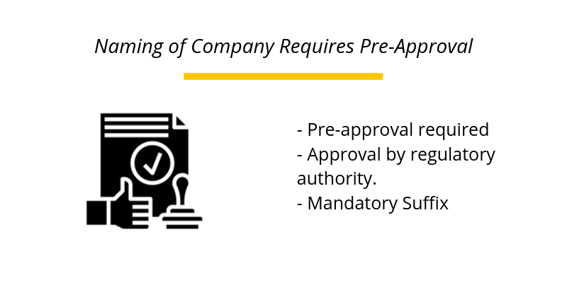 Naming of Company Requires Pre-Approval