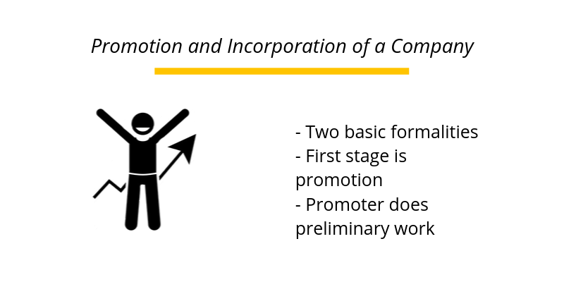 Promotion and Incorporation of a Company