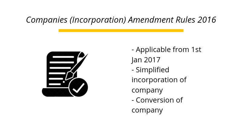 Companies (Incorporation) Amendment Rules 2016
