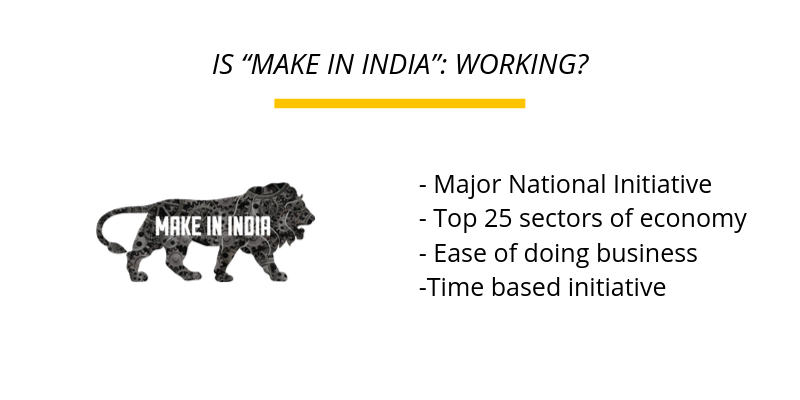 "IS ""MAKE IN INDIA"": WORKING?"