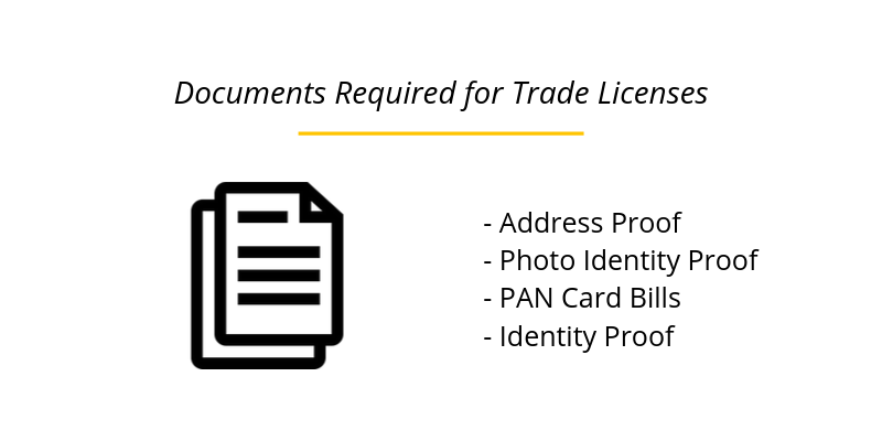 Documents Required for Trade Licenses