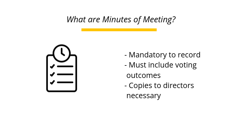 What are Minutes of Meeting?