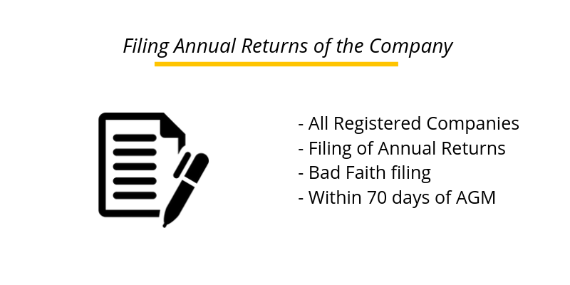 Form MGT-7 : For Filing Annual Returns of the Company