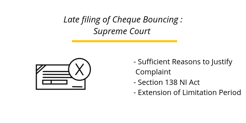 Late filing of Cheque Bouncing : Supreme Court