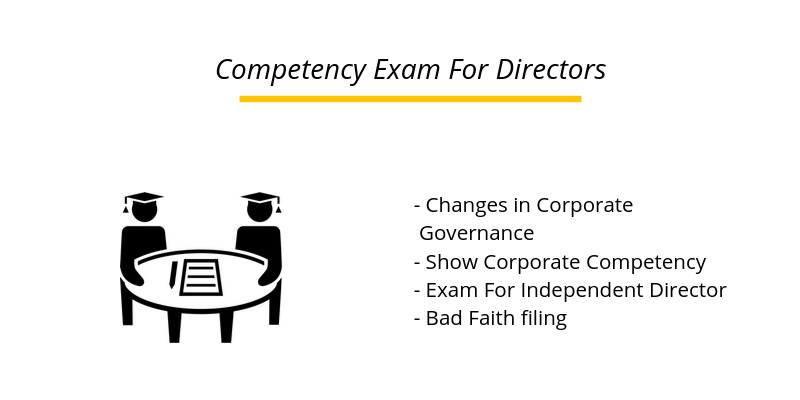Directors Will Have to Soon Take an Exam to Show Competency