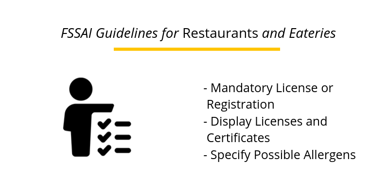 FSSAI Guidelines for Restaurant and Eateries