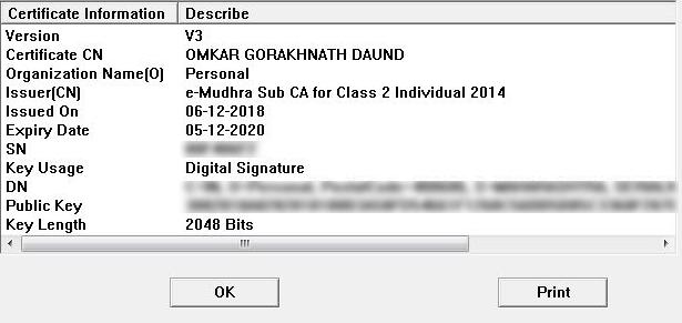 DSC Certificate