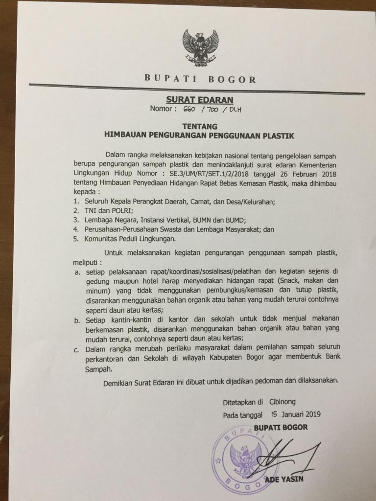 Edaran Bupati Kantin Kantor Dan Sekolah Di Bogor Tak Boleh