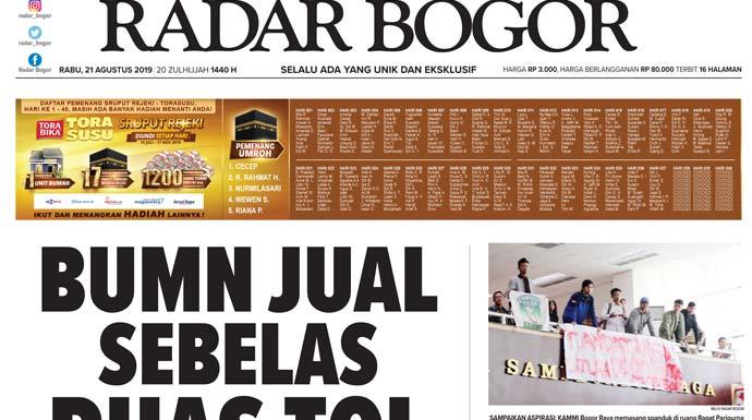 Epaper Radar Bogor Edisi 21 Agustus 2019 | RADAR BOGOR ...