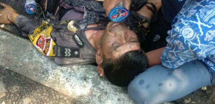 Aksi Demo Mahasiswa di Cianjur Berakhir Ricuh, 4 Anggota Kepolisian Menjadi Korban Terbakar