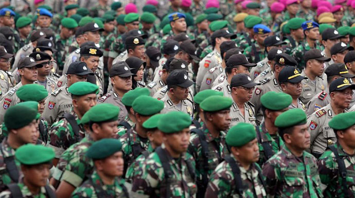 Personil TNI Amankan Pelantikan